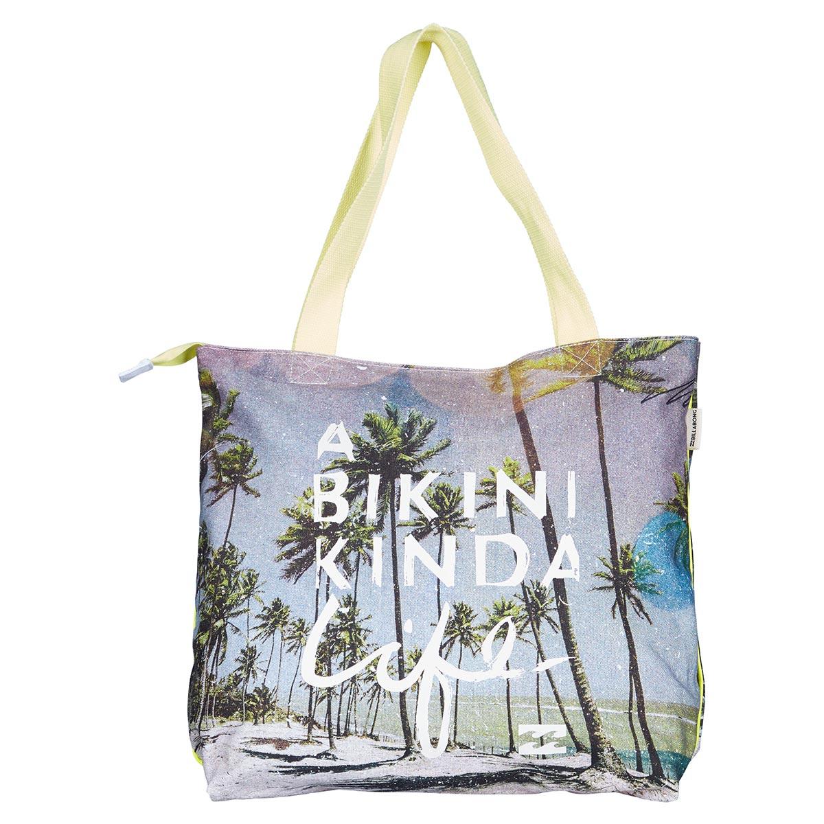 bunte strandtasche mit palmenfoto neue billabong kollektion. Black Bedroom Furniture Sets. Home Design Ideas