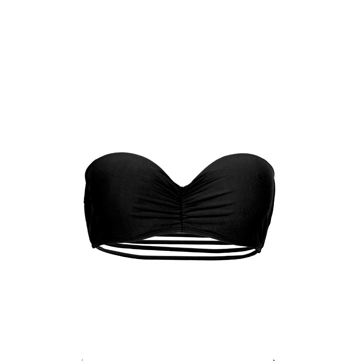 Mon Bandeau Teenie Bikini Schwarz Bänder (Oberteil)