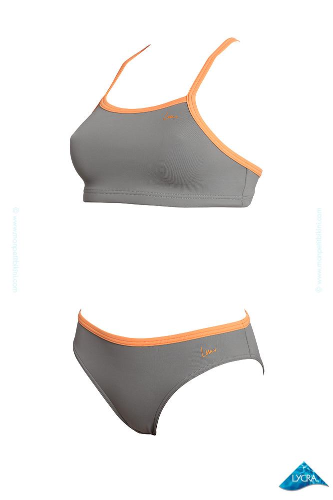 bikini kronos schwimmen grau laure manaudou sport bademode online. Black Bedroom Furniture Sets. Home Design Ideas