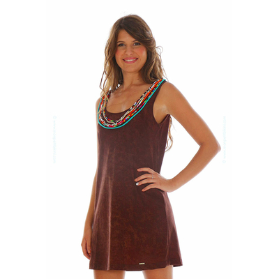 Strand-Kleid Yavapai, in Braun
