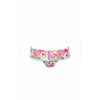 Bikini-Hose mit Rüschen und Blumen-Motiv Makena, in Rosa (Hose)