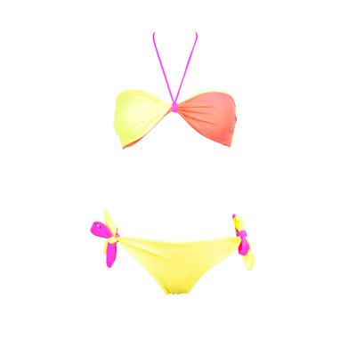 Bandeau Bikini-Set, wendbar, in Koralle / Bunt