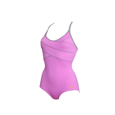 Fuzeo - Sport-Badeanzug figurformend, in Hell-Lila, Laure Manaudou