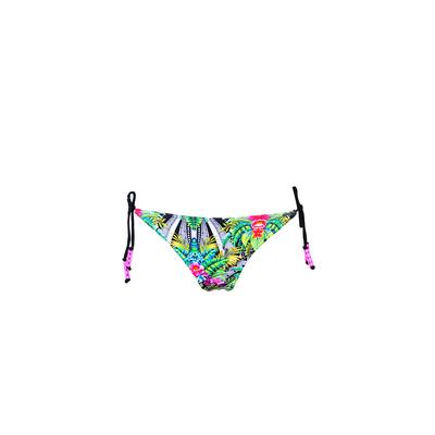 Bikini Hose hoher Beinausschnitt in Grün, Tropical (Hose)