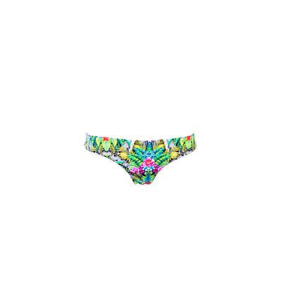 Bikini Tanga in Grün Tropical (Hose)