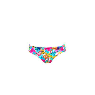 Tanga Bikini-Hose Tropicana geblümt, Rosa (Hose)
