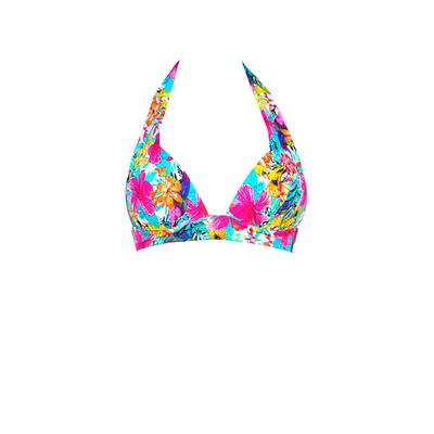 Triangel Bikini Oberteil Tropicana geblümt, Rosa (Oberteil)