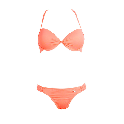 Bikini 2-teilig mit Push-Up-Oberteil Unicool, in Koralle