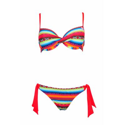 Bikini-Set Acapulco mit Balconette-Oberteil für Cup C, in Neon-Orange