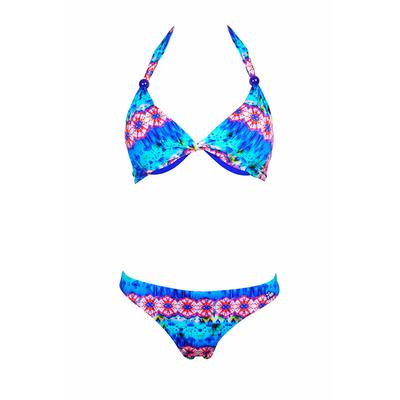 Bikini-Set mit Tanga Pam Pam, in Blau