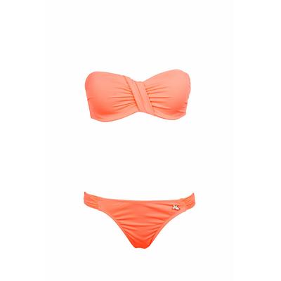 Bikini-Set mit Bandeau-Oberteil Unicool, in Koralle