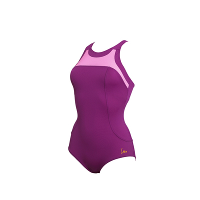 Sport-Badeanzug Figurformend Diane, in Lila, von Laure Manaudou