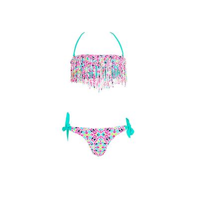 Mädchen Bandeau Bikini 2-teilig, in Pastelgrün