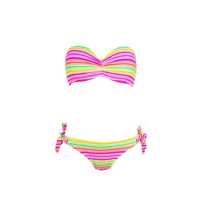Bandeau-Bikini 2-teilig, Bunt