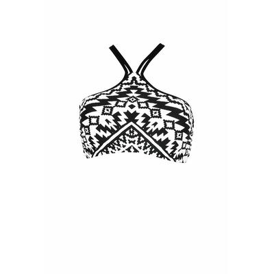 Bustier Bikini-Oberteil Kasbah, in Schwarz und Weiß (Oberteil)