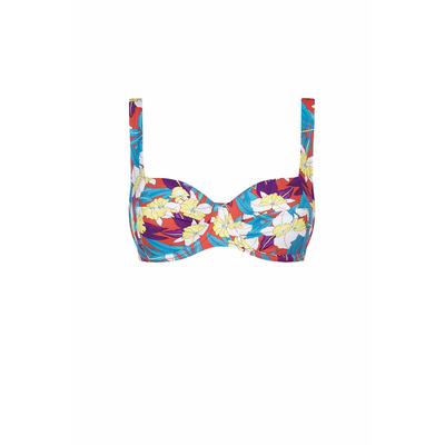 Balconette Bikini-Oberteil Dolce Vita mit buntem Blumen-Print (Oberteil)