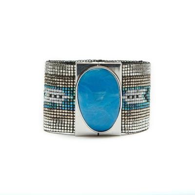 Brasilianisches Armband Ottawa in Blau von Hipanema