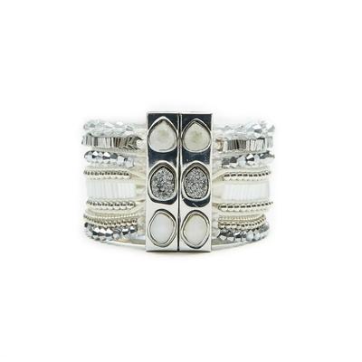 Breites Armband Luna in Weiß