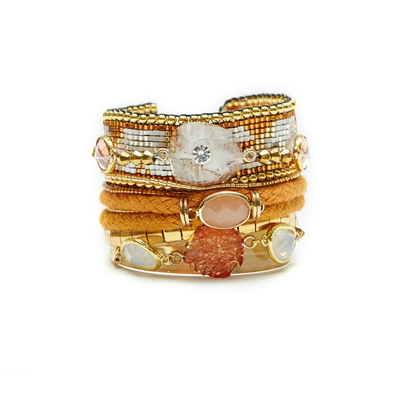Orange-Farbenes Armband Aurore von Hipanema