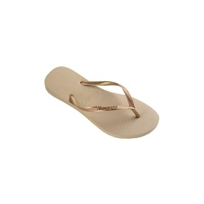 Havaianas Flip-Flops Kids Slim in Beige und Gold