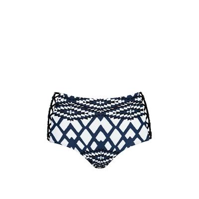 High Waist Bikini Hose Modern Tribe in Stahl-Blau (Hose)