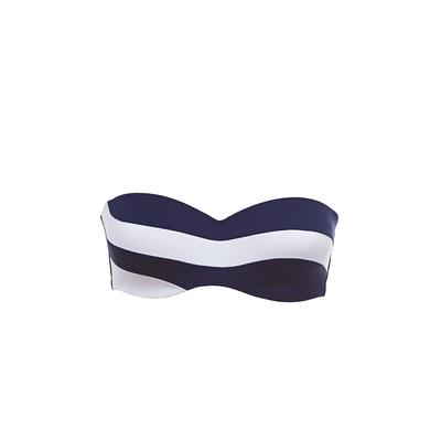 Bandeau Bikini Top in Blau und Weiß Be With You (Oberteil)