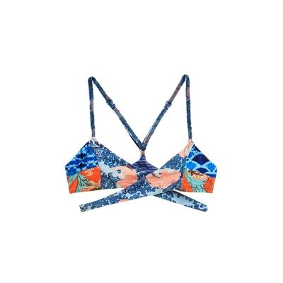 Wrap Bikini, Pool, blau (Oberteil)