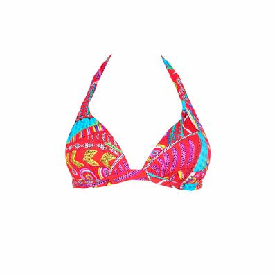 Triangel-Bikini Push up Kanahela, in rot  (Oberteil)