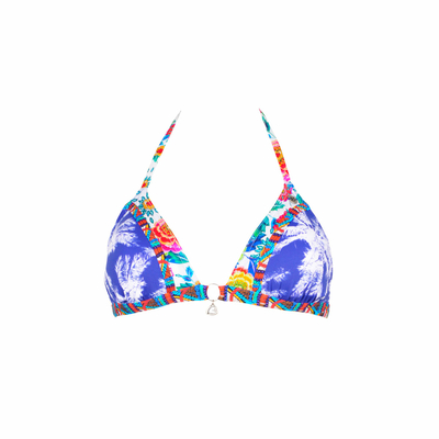 Triangel-Bikini Mixsand, in blau (Oberteil)