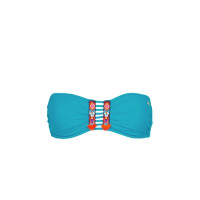 Bandeau-Bikini Totem, in blau (Oberteil)