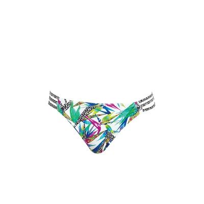 Bikini-Slip mit Zierbändern Tropicool, bunt (Hose)