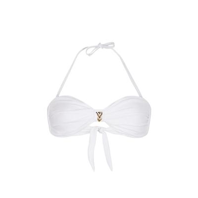 Bandeau-Bikini Uniswim, weiß (Oberteil)