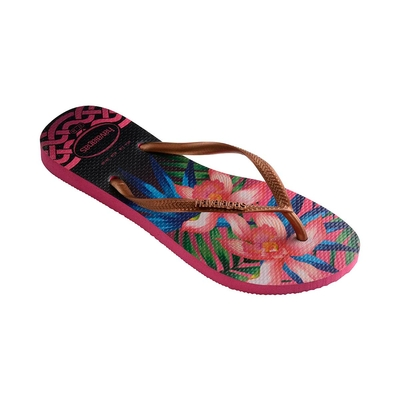Flip-Flops Slim Tropical, rosa