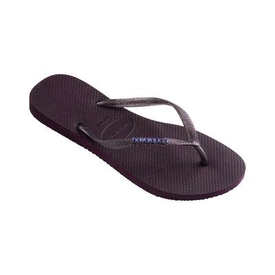Flip-Flops Slim Logo Metallic, violett