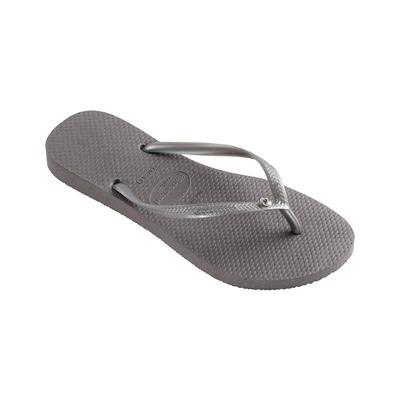 Flip-Flops Slim Crystal Glamour, grau