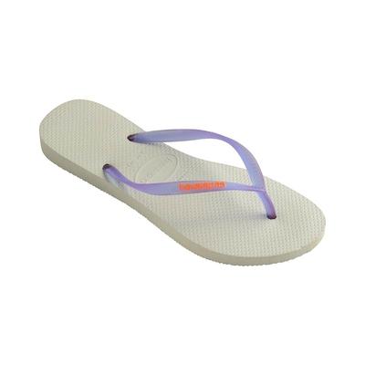 Flip-Flops Slim Logo, weiß