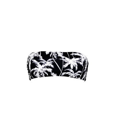 weiß-schwarzes Bandeau Bikini