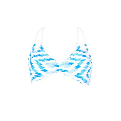 Bustier-Bikini Florence, blau wendbar (Oberteil)