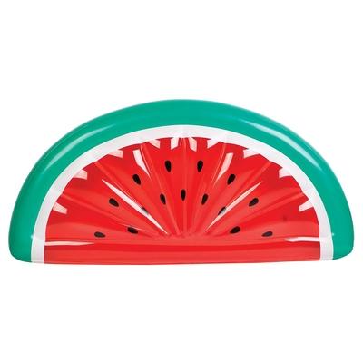 Rote Luftmatratze in Melonen-Form