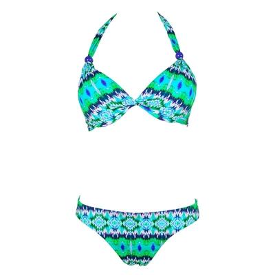 Bikiniset Palmsprings mit Tanga, in grün