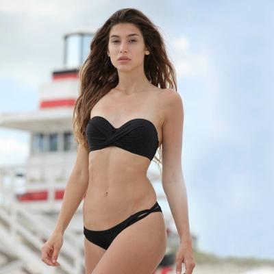 Bikiniset Bandeau, schwarz