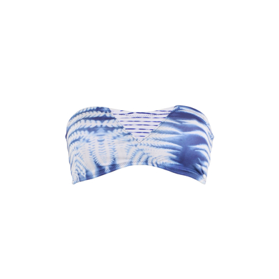 Bandeau-Bikini West Wind, blau (Oberteil)