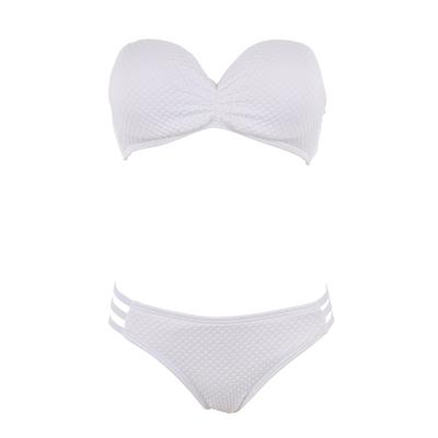 Bikiniset mit Bandeau, in weiß