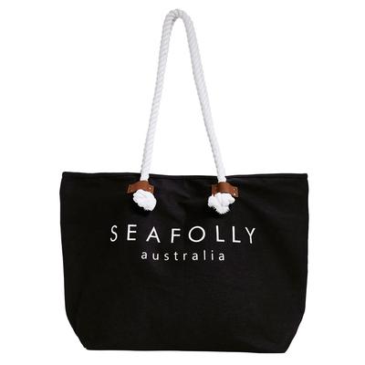 Strandtasche, in schwarz