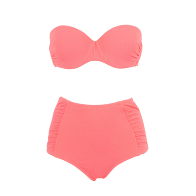 Push up Bikini Set, koralle