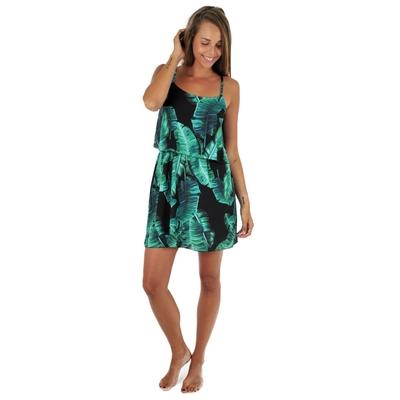 kurzes Strandkleid mit Palmenmustern