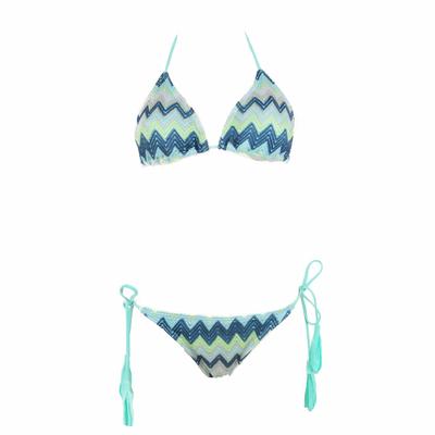 Bikiniset mit Triangel, in blau und grün