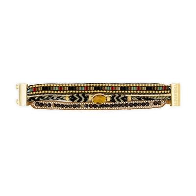 Brasilianisches Armband Khol, in schwarz und gold