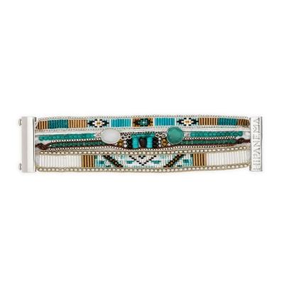 Brasilianisches Armband Lagune, blau silbern