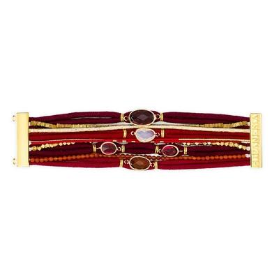 brasilianisches Armband Garnet, in rot